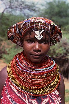 Masai Woman at a Tourist Lodge ...