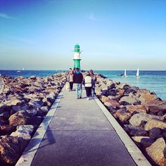 "gabrealness: "" The Lighthouse #warnemünde #rostock #balticsea #mecklenburg #vanishingpoint #latergram (hier: Warnemünder Mole) """
