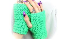 57919e9b8 Simple Wrist Warmers - Free Crochet Pattern Crochet Fingerless Gloves Free  Pattern