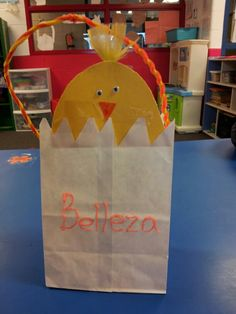 Easter gift bags chick gift bag paper gift bag by fatassdesigns super cute easter gift bag idea very easy and adorable negle Choice Image