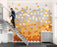 Woodwool Hexagonal - Interactive Decorating Ideas for Home Studio Design isoslatie
