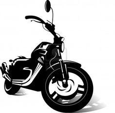 black sports bike  vector illustration ;  Stock Photo