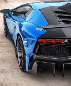 #Lamborghini #Aventador with Azure Blue and Carbon Fiber trims. Is love at first sight love it.