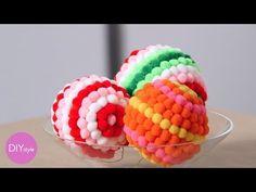 ▶ Colorful Pom-Pom Ornaments - DIY Style - Martha Stewart - YouTube