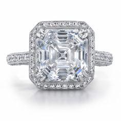 Asscher cut diamond engagement rings - 12