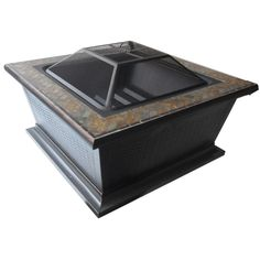 Shop allen + roth 36-in W Rubbed Bronze Steel Wood-Burning Fire Pit at Lowes.com