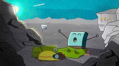 Philae wakes up. June 14, 2015. Sends a communication home via Rosetts. (Credit: ESA)
