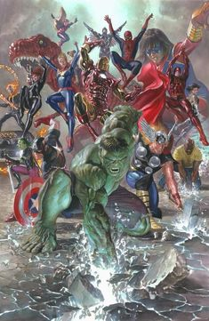 Marvel Legacy promises to restore the Marvel Universe to a more familiar place & this variant cover by Alex Ross restores many of the heroes to their classic looks as The Avengers assemble. Marvel Dc Comics, Lego Marvel, Hq Marvel, Marvel Heroes, Captain Marvel, Captain America, Super Heroes Comics, Marvel Images, Alex Ross