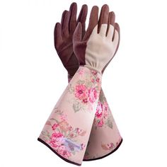 Garden Girl's new design beautiful gauntlet style gardening gloves give full protection from thorns and irritation when you prune those roses.