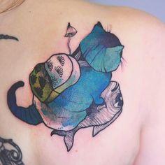 Tatuagens estonteantes em cores neon de Joanna Świrska