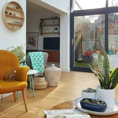 Extension, conservatory. Scandinavian, Scandi, small spaces.