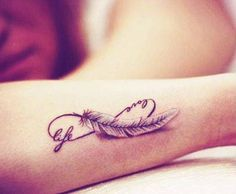 60 Infinity Tattoo Designs and Ideas with Meaning updated on January 2020 - . - 60 Infinity Tattoo Designs and Ideas with Meaning updated on January 2020 – Feather Infinity - Infinity Tattoo With Feather, Infinity Tattoo Designs, Tattoo Designs Wrist, Infinity Tattoos, Feather Tattoos, Tattoo Designs For Women, Tattoos For Women Small, Small Tattoos, Tiny Tattoo