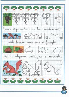 Schede didattiche per la scuola primaria, giochi, disegni da colorare, enigmistica, storia dell'arte per bambini, schede didattiche del maestro fabio School Border, Graph Paper Art, Blackwork Embroidery, Cross Stitch Borders, Art Plastique, Elementary Art, Learn To Draw, Square Quilt, Pixel Art