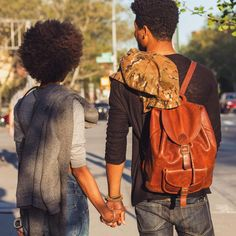 His and Her Texture. Beautiful afro textures. Afro hair. Natural hair. Highly textured hair.