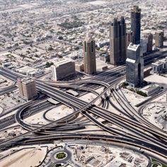 Transport interchange in Dubai