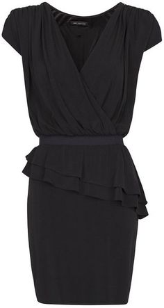 Mango Peplum Draped Dress