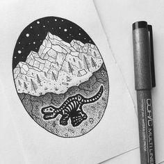 Dinosaur tattoo by peta.heffernan