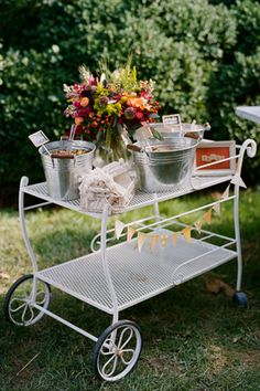 """so cute to use as tables for book signing and stuff since it is a """"garden table"""""""
