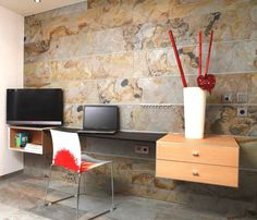Office wall with Ultrastone panels.
