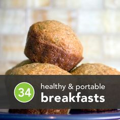 healthy and portable breakfasts! Been wanting to make more healthy baking items! It's hard to come by these days! 🙂 healthy and portable breakfasts! Been wanting to make more healthy… Healthy Fast Food Breakfast, Breakfast Desayunos, Breakfast Recipes, Breakfast Ideas, Breakfast Cookies, Healthiest Breakfast, Mexican Breakfast, Breakfast Sandwiches, Healthy Recipes