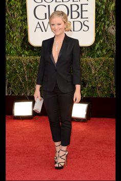 Celebrities en la alfombra roja de la 70 edición de los Globos de Oro: Amy Poehler de Stella McCartney