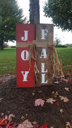 Reversable Fall - Joy porch sign