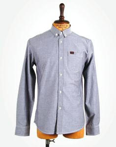 Marshall Artist / Modern tailoring done right. Denim Button Up, Button Up Shirts, Oxford, Mens Fashion, Classic, Modern, Artist, Tops, Style