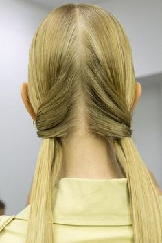 A detailed look at the hairstyles at Marni Spring