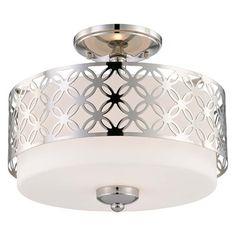 Nuvo Lighting 60-4 2 Light Margaux Semi Flush Ceiling Light