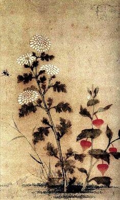 (Korea) by Lady Shin Saimdang ca century CE. Korean Painting, Japanese Painting, Chinese Painting, Colorful Drawings, Art Drawings, Mediums Of Art, Dramas, Asian History, Korean Art