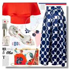 """""""#July4th #RedAndBlue"""" by prigaut ❤ liked on Polyvore featuring Miss Selfridge, Aspinal of London, Kat Maconie, Monet, redwhiteandblue and july4th"""