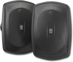 "Yamaha - Natural Sound 6-1/2"" 2-Way All-Weather Outdoor Speakers (Pair) - Black"