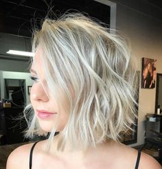 Messy Long Bob for Thin Hair