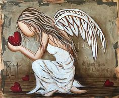 Beauty Shines Brighter Canvas Art Print by Rut Art Creations I Believe In Angels, Disney Kunst, Angel Pictures, Angels Among Us, Guardian Angels, Angel Art, Whimsical Art, Rock Art, Painting Inspiration