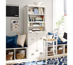 Bedford Office Work Tower | Pottery Barn $1049 It's a compact Computer Laptop armoire with printer storage in lower half.