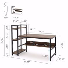Tribesigns Office Desk Computer table with Storage Shelves Modern Office Desk, Office Computer Desk, Office Workspace, Home Office, Gaming Desk, Gaming Rooms, Under Desk Storage, Storage Shelves, Storage Room