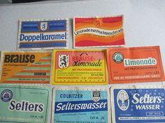 13 DDR- Limo- und Seltersetiketten von verschiedenen Brauereien 2