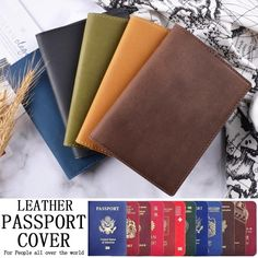 Cool Tiger Fashion Leather Passport Holder Cover Case Travel Wallet 6.5 In