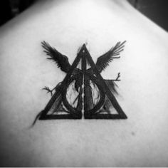 Harry Potter tattoo. Deathly Hallows. Artist Brandee Gordon of Native Ink Tattoo.