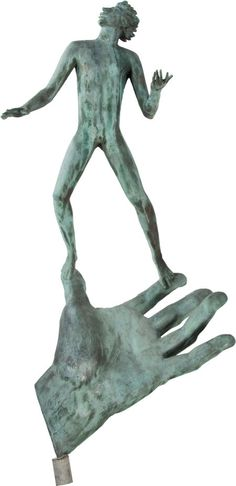 CARL MILLES (Swedish, 1875-1955). Hand of God