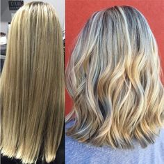 Blunt, Wavy Lob Haircut - Medium Thick Hair, Balayage Hair Styles