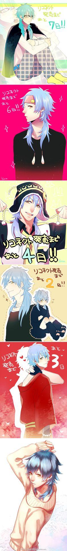 Aoba cosplaying all his boyfriends xD   Dramatical Murder