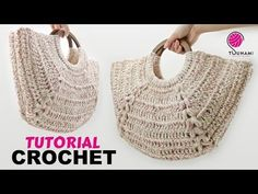 "TUTORIAL BORSA UNCINETTO - ""Agata"" CROCHET EASY BAG - YouTube Shawl Crochet, Bag Crochet, Crochet Handbags, Crochet Purses, Crochet Hooks, Crochet Simple, Double Crochet, Single Crochet, Crochet Tutorial"