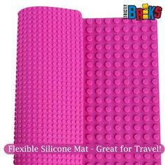 These mats are Reversible! Fits LEGO Ⓡ and DUPLOⓇ! Flexible for travel, and a sturdy base for any structure!