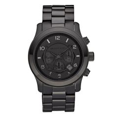 Buy the Runway Chronograph Watch by Michael Kors Watches from JULES B today. Check out our range of Michael Kors Watches and enjoy excellent customer care. Black Stainless Steel, Stainless Steel Bracelet, Michael Kors Black, Michael Kors Watch, Michael Kors Chronograph, Marken Outlet, Herren Chronograph, Metal Bracelets, Black Bracelets