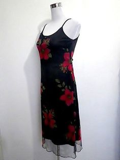 vintage black with red Tropical/Hawaiian floral by VintageHomage, $20.00
