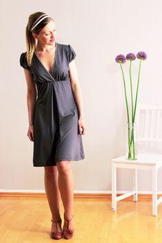 Susetta Kleid schiefergrau von Mirastern auf DaWanda.com
