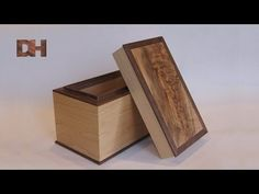 How to decorate a wooden box decoupage - YouTube