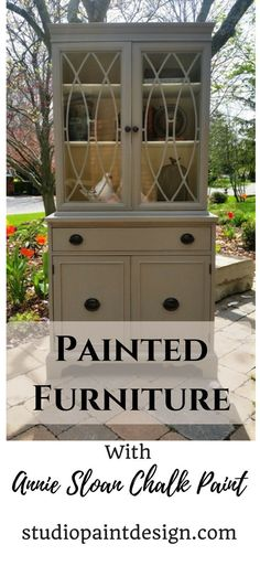 Painted Hutch Annie Sloan Chalk Paint DIY Ideas Inspiration French Linen and Old White