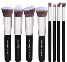 BSMALLTM Premium Synthetic 8 PCS Makeup BrushesSilver Black -- Be sure to check out this awesome product.